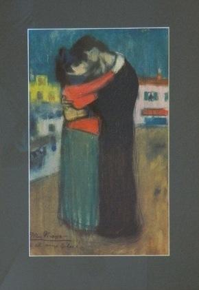 """Пабло Пикассо """"Влюбленные на улице"""" (из серии Les Bleus de Barcelone)"""