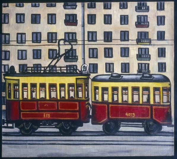 """Михаил Рогинский """"Трамвай"""", 1962"""