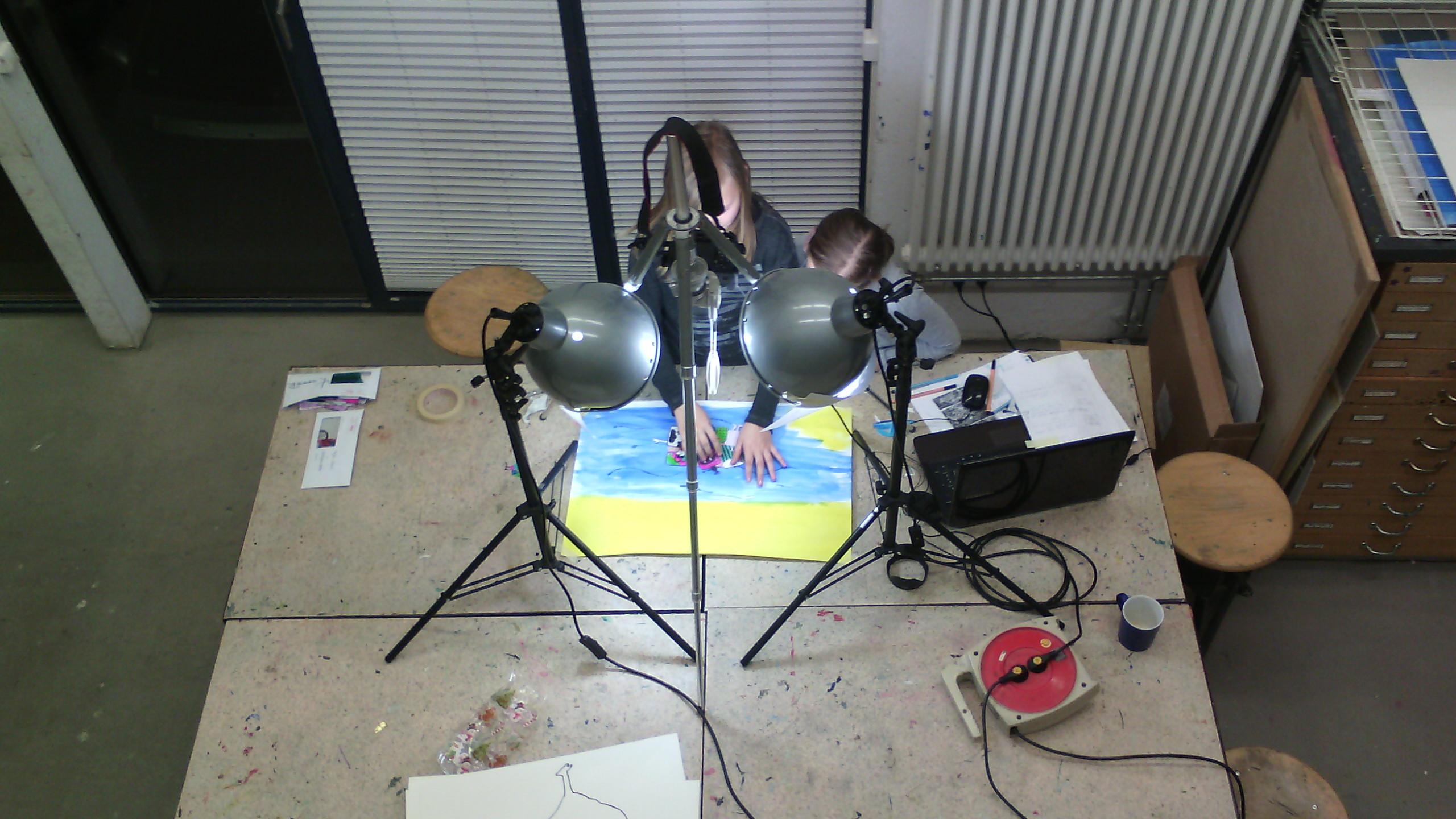 Процесс работы над мультфильмом