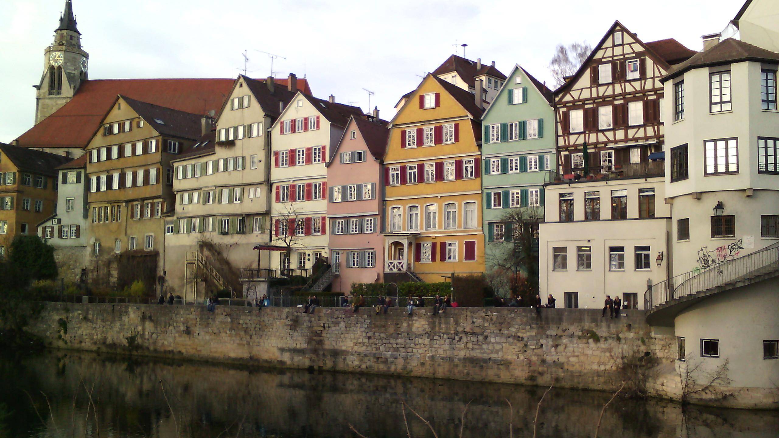"""За время работы в Германии художница объехала несколько городов. На фото """"пряничные"""" домики Тюбингена"""
