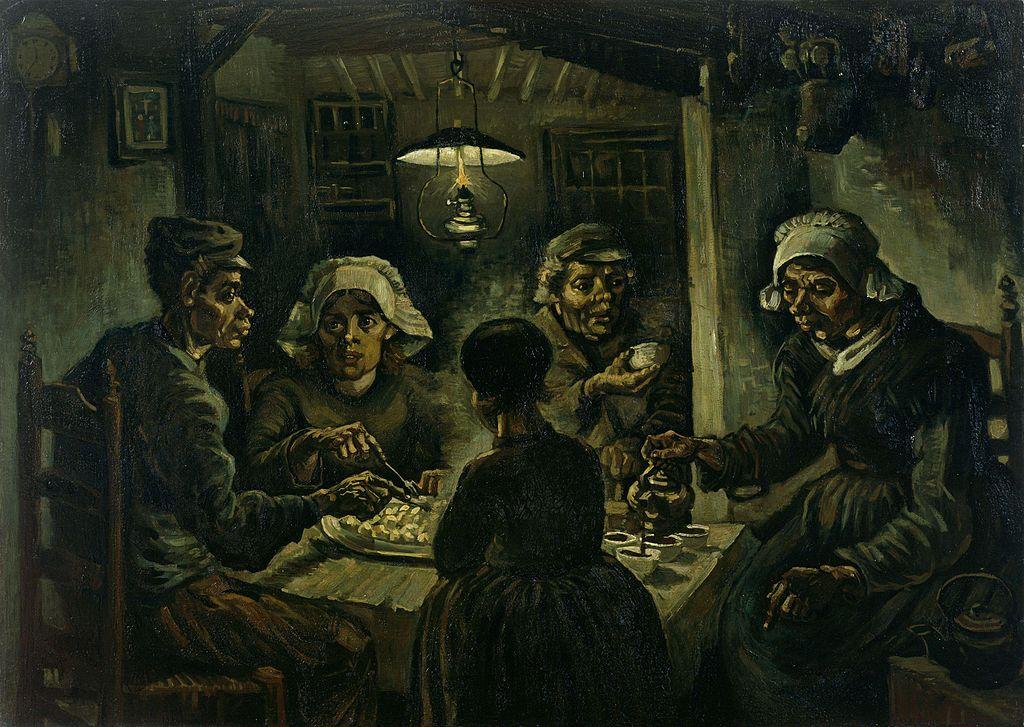 """Картина """"Едоки картофеля"""" Ван Гога сейчас хранится в музее художника в Амстердаме"""
