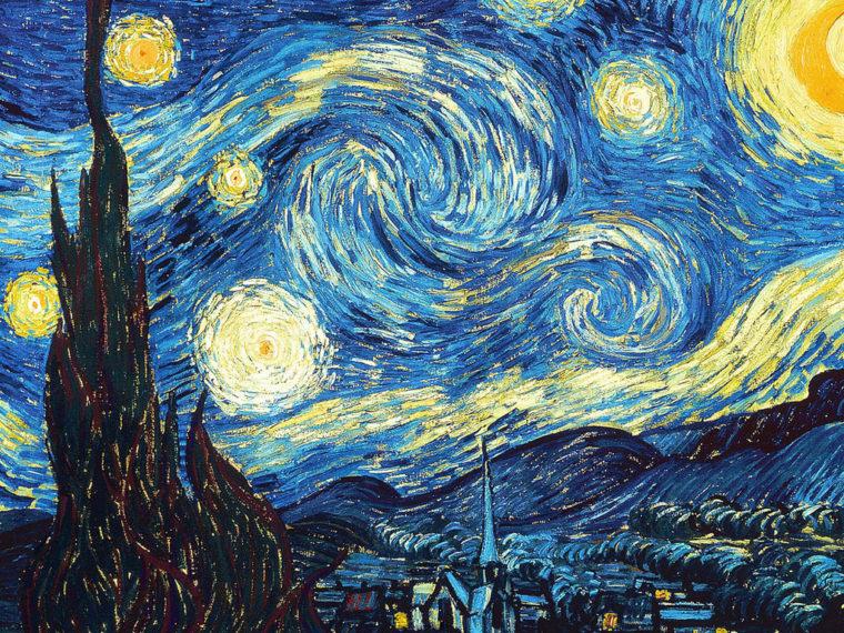 """Винсент Ван Гог """"Звездная ночь"""", 1889"""