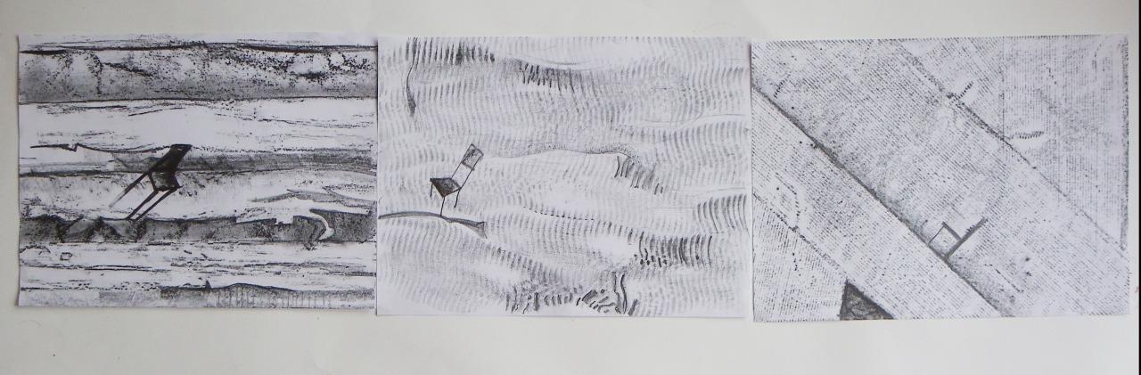 """Работы из серии """"Эти стулья"""", которую художница делала в рамках летней мастерской в музее современного искусства в Котбусе"""