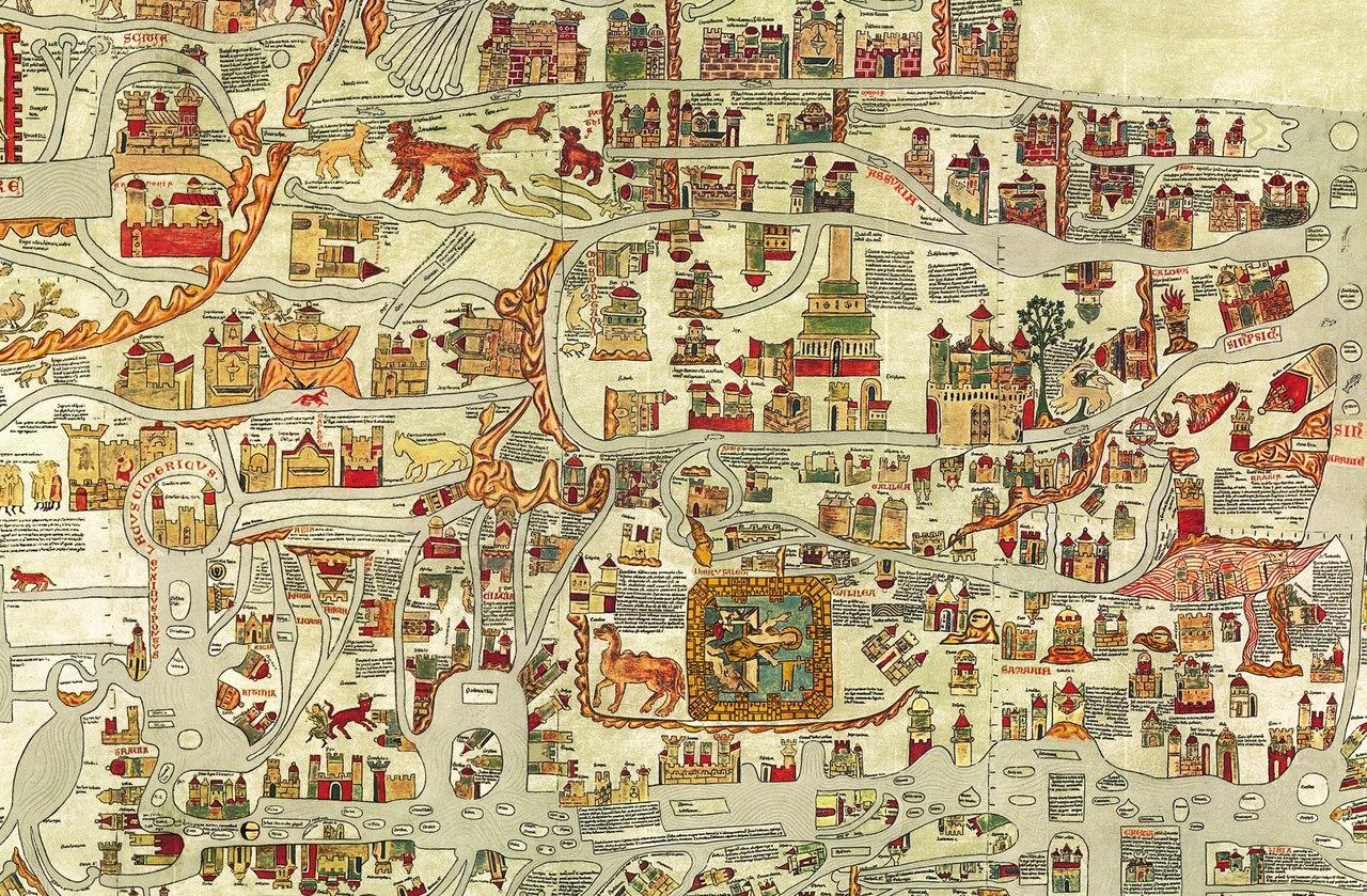 Один из примеров средневековых карт