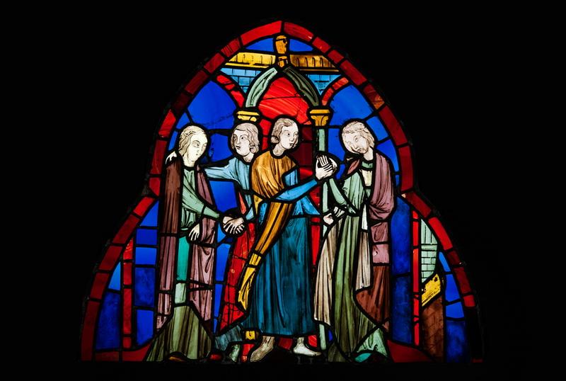 Двойная помолвка Витраж из Сент-Шапель Франция, Париж, до 1248