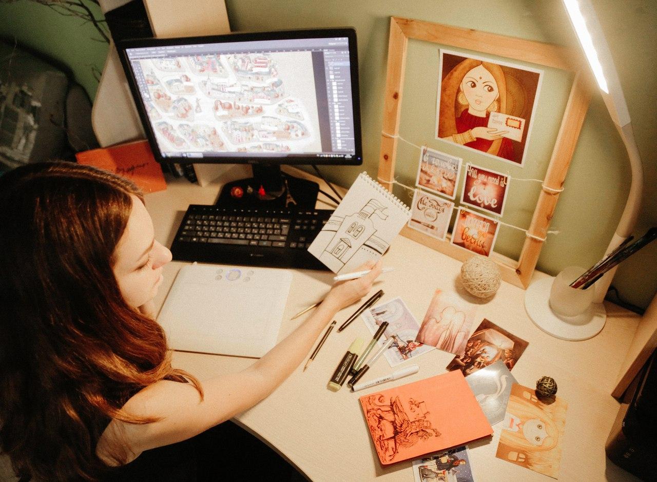 Для карты художница создавала свой образ каждого квартала