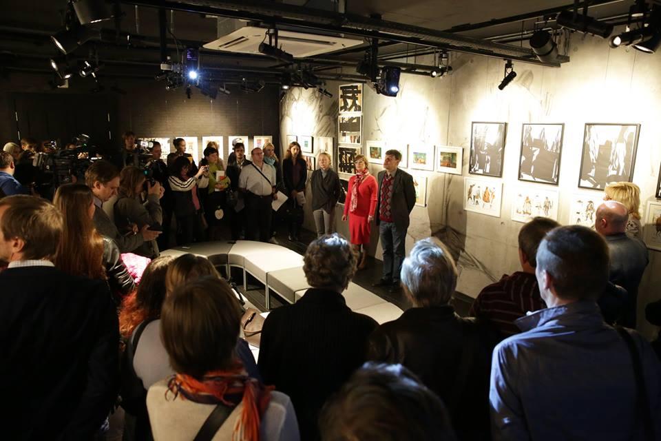 Открытие галереи Юрия Гальперина