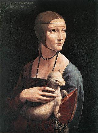 """Леонардо да Винчи """"Дама с горностаем"""", 1489-1490"""