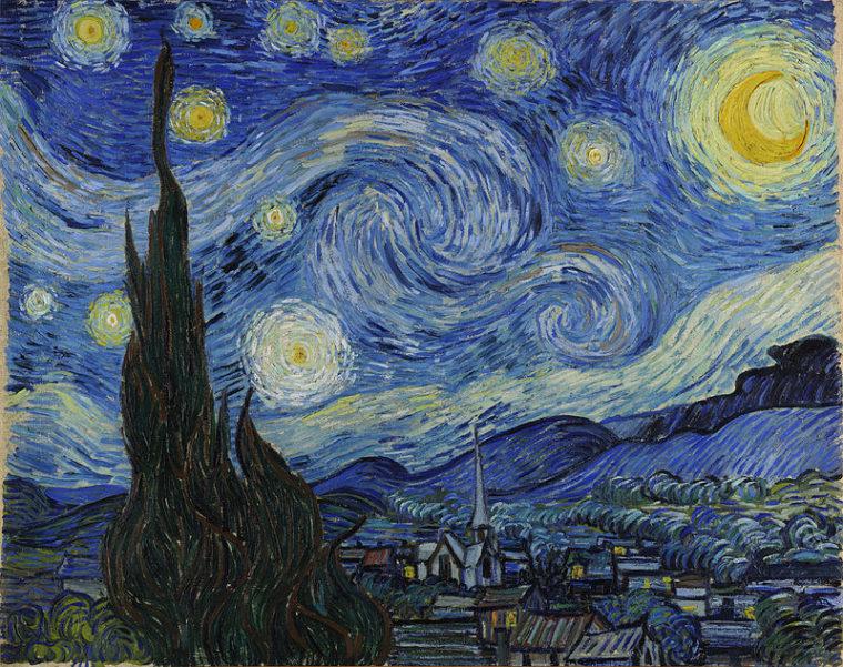 """В картине """"Звездная ночь"""" художнику удалось передать стихийность Вселенной"""