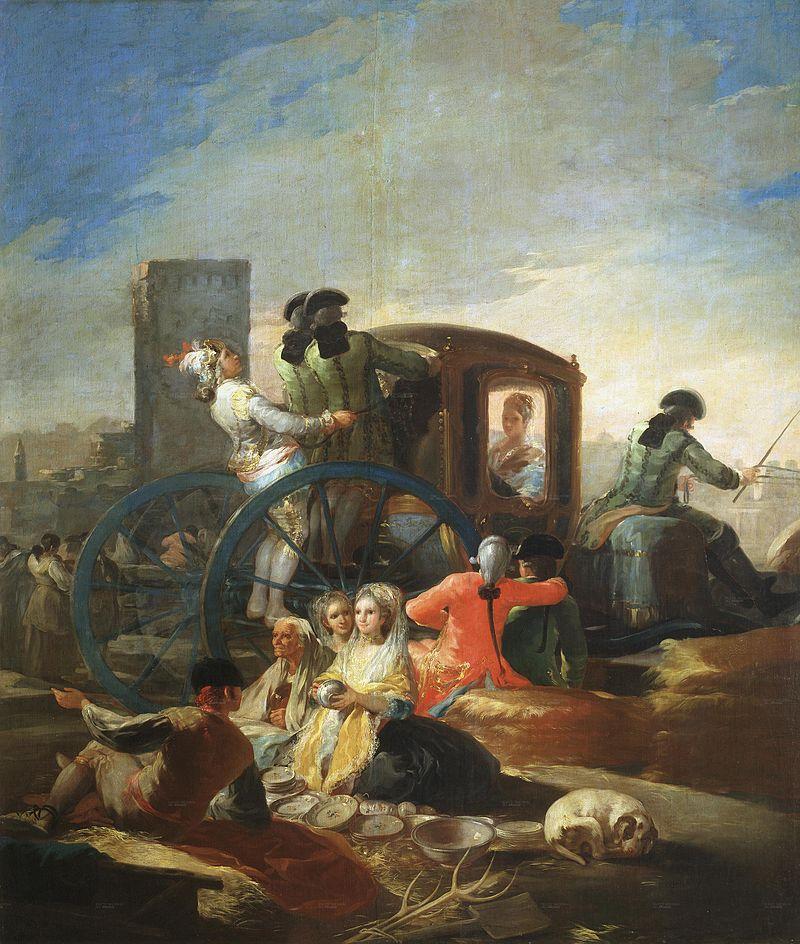 """Франсиско Гойя """"Продавец посуды"""", 1779"""
