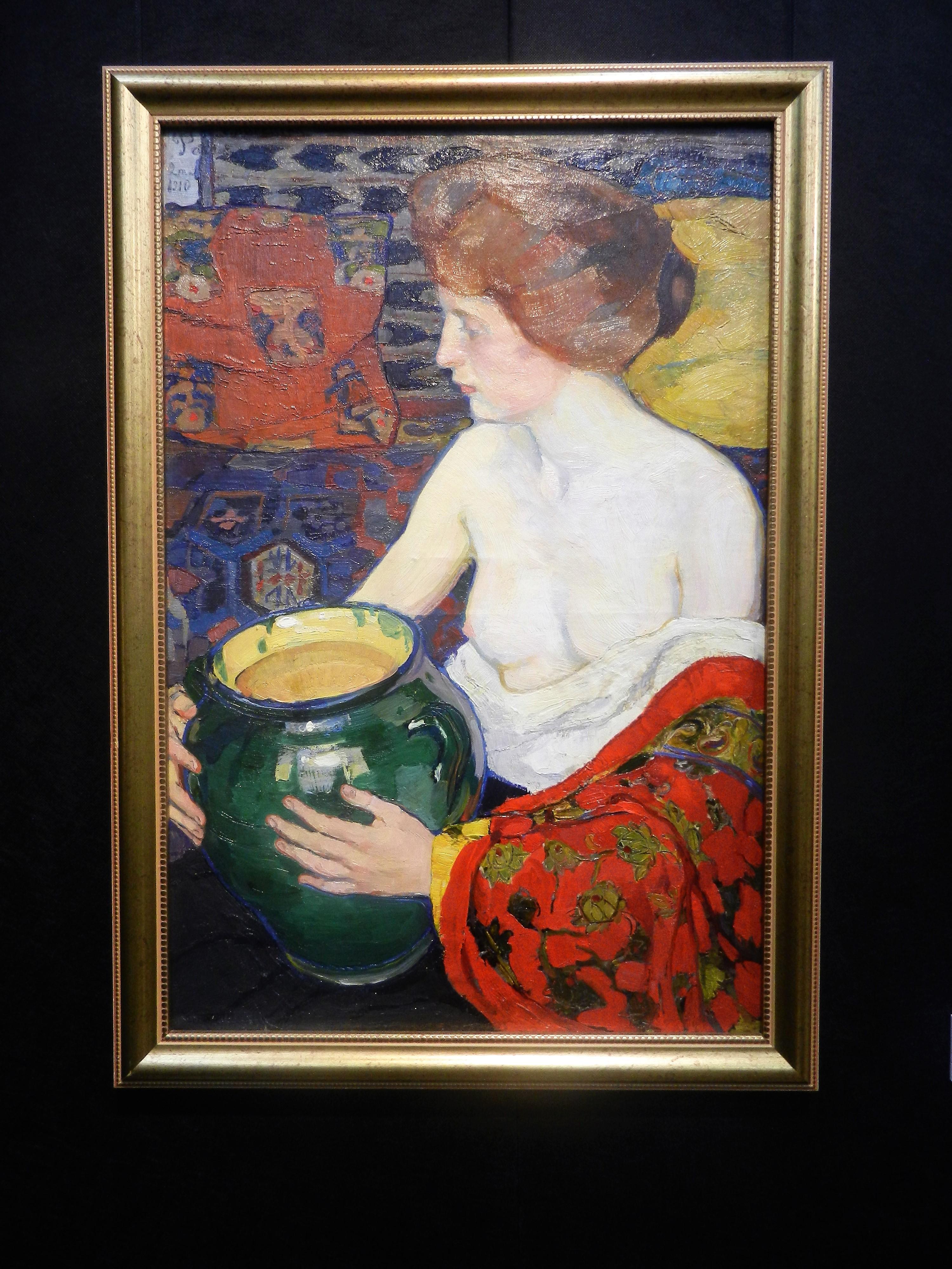 """Картина Елены Киселевой """"""""Зеленая ваза"""", 1910"""