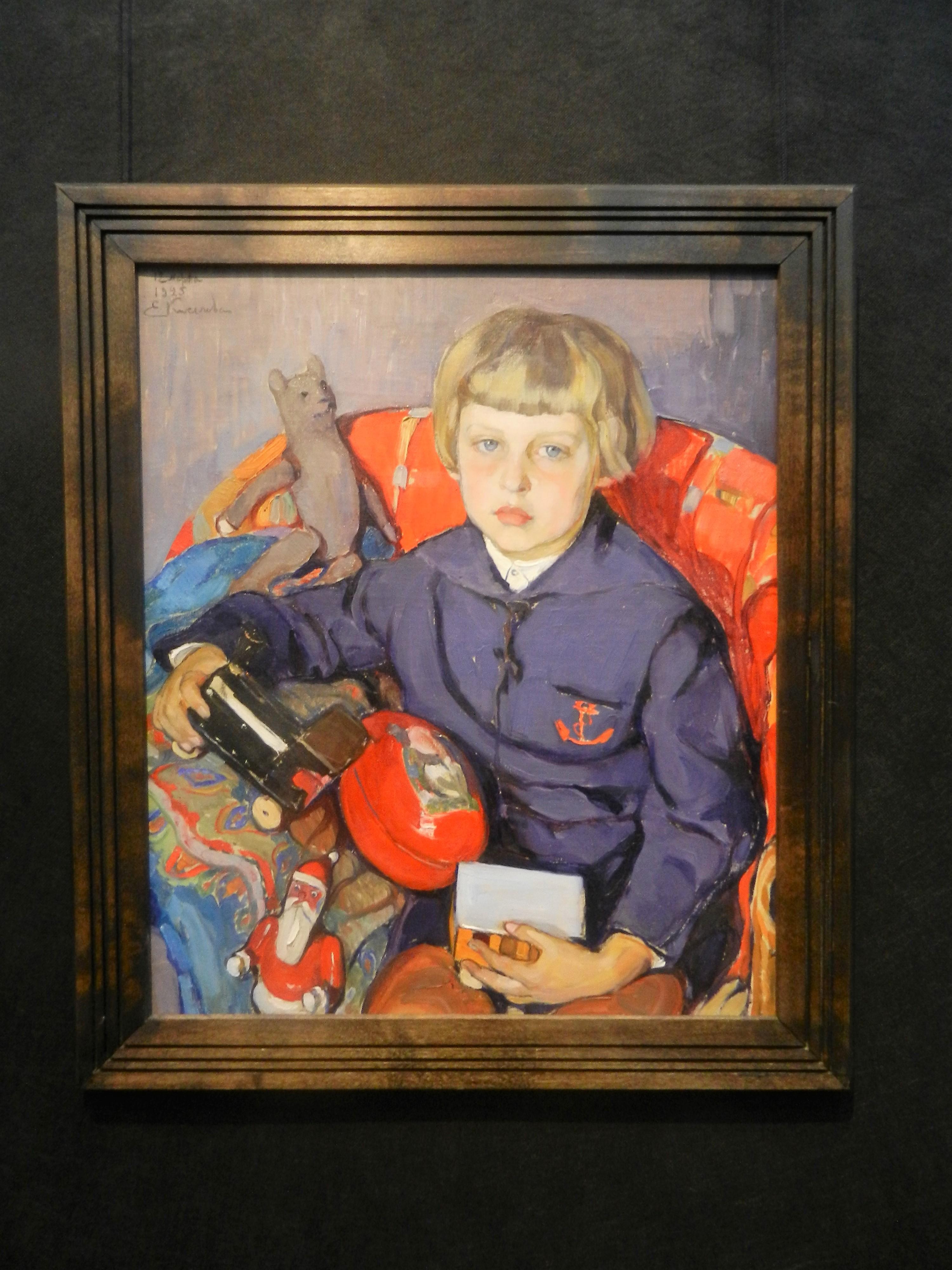 """""""Портрет Арсения Билимовича"""" (сын художницы), 1925"""