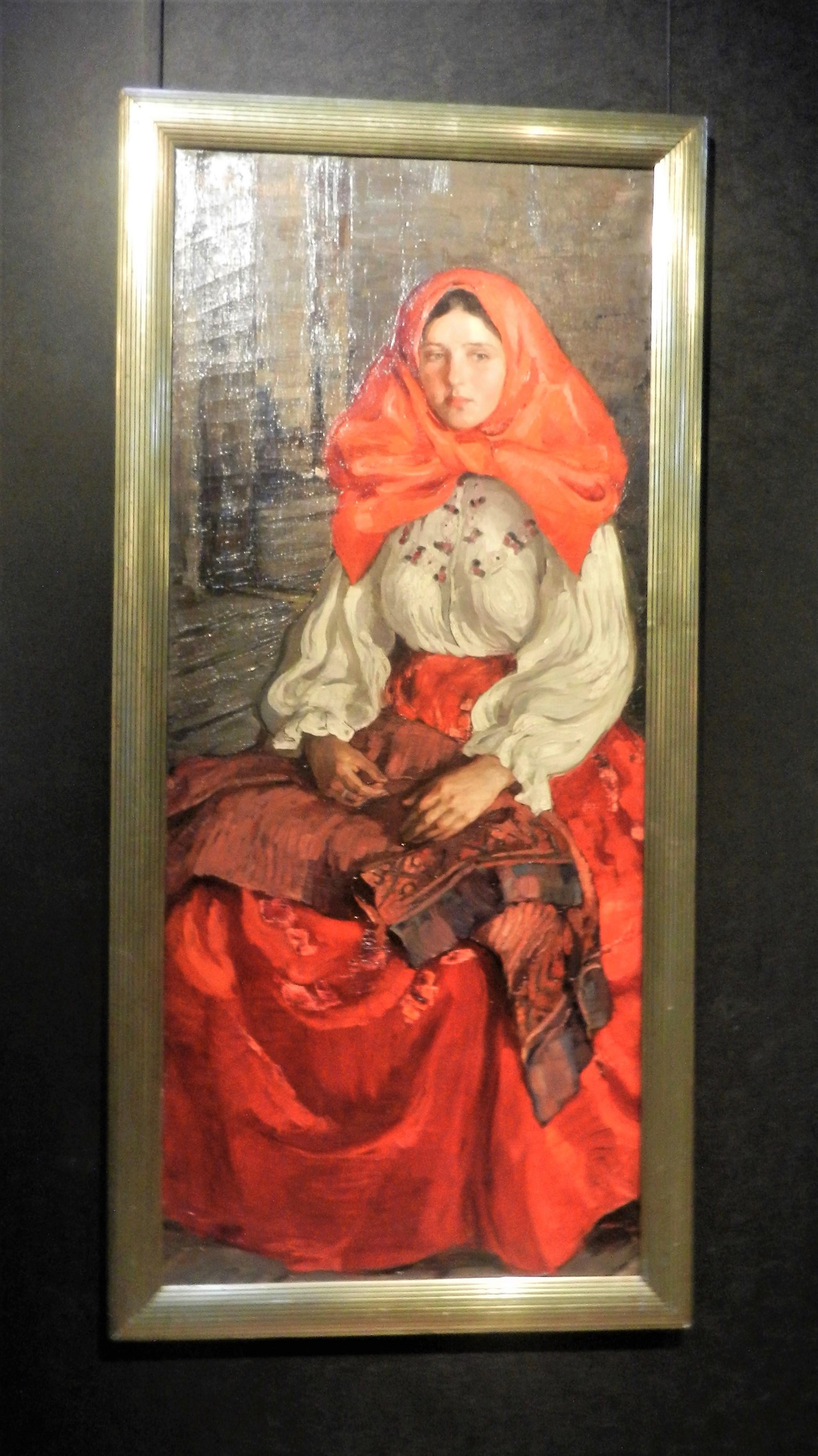 """""""Женщина в красном"""" (Портрет Елены Даниловны Крючковой), 1906"""