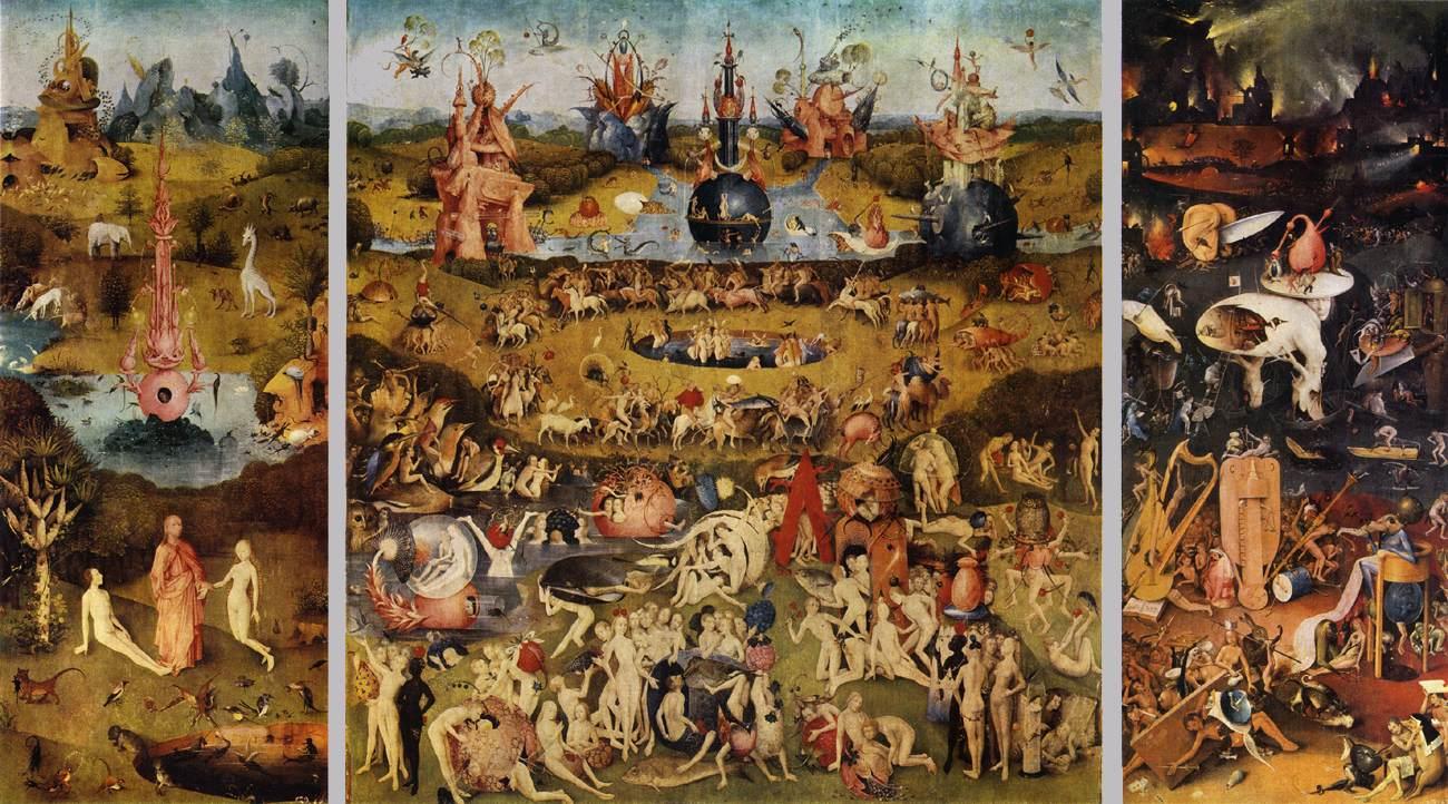 """Иероним Босх """"Сад земных наслаждений"""", 1500-1510"""