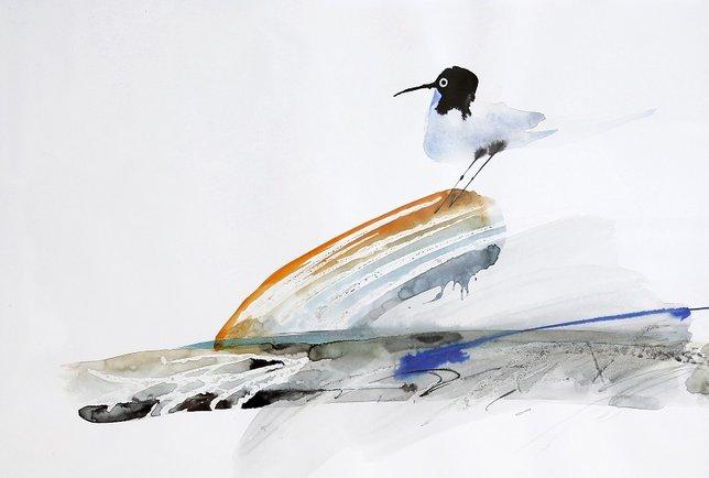 Работа художника Евгения Добровинского, чья персональная выставка графики открывала 23-й театральный сезон Камерного театра