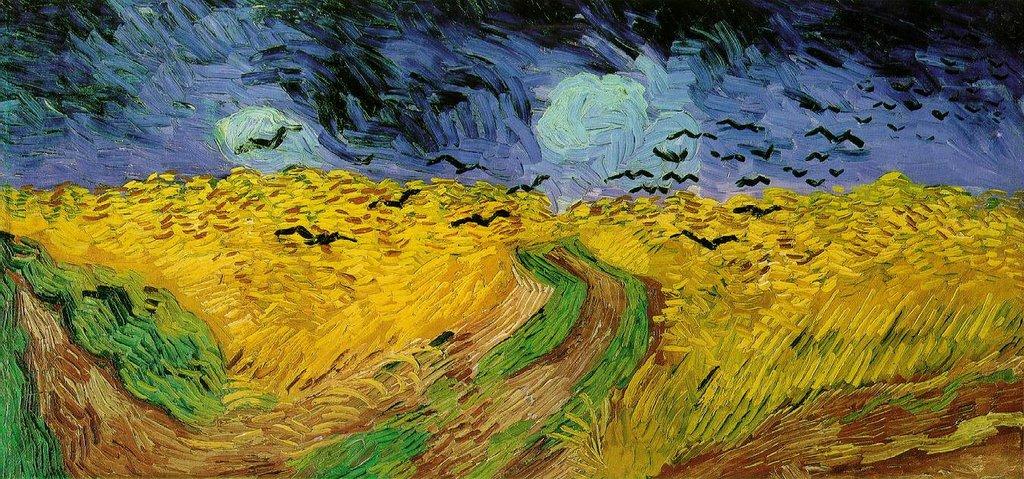 """Одна из самых известных работ Ван Гога """"Пшеничное поле с воронами"""""""