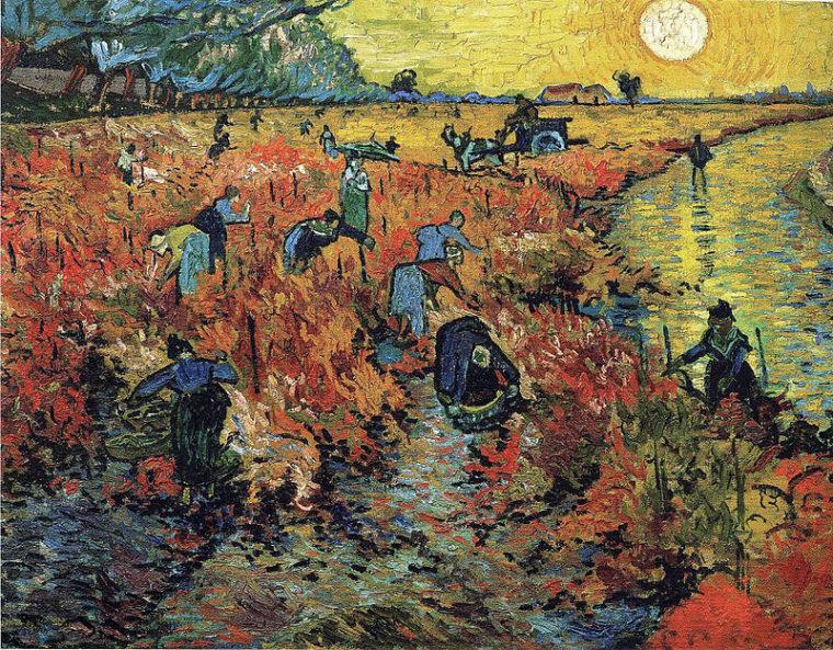 """Картина """"Красные виноградники"""" - одно из немногих произведений Ван Гога, которое было куплено при жизни художника"""