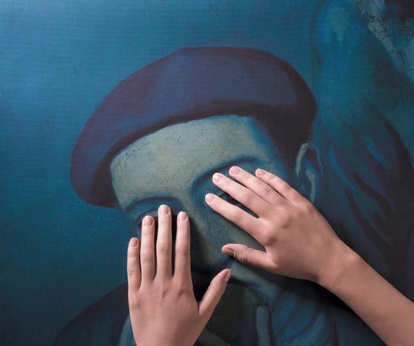 фото с сайта музея им Пушкина к выставке для незрячих