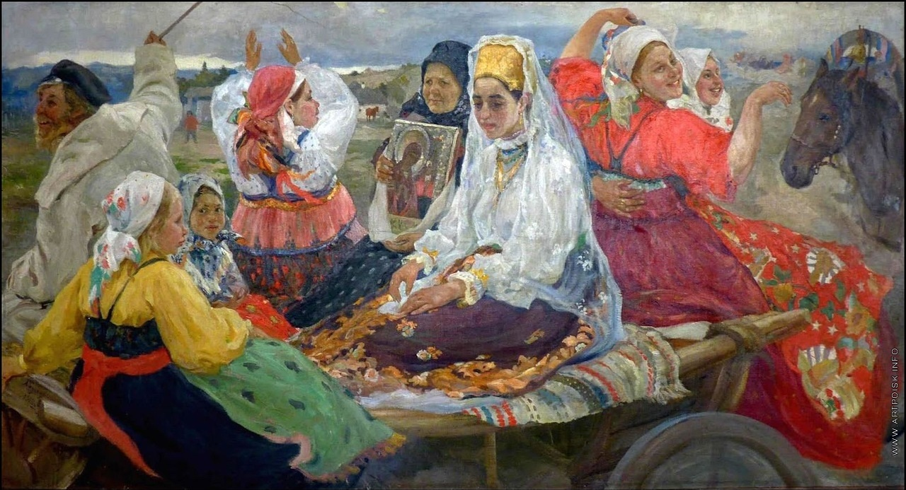 "Александр Бучкури ""Свадебный поезд"", 1913"