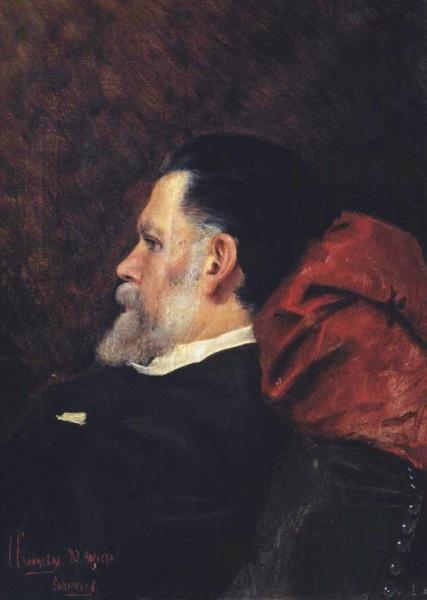Этот портрет отца Софья напсиала незадолго до его смерти