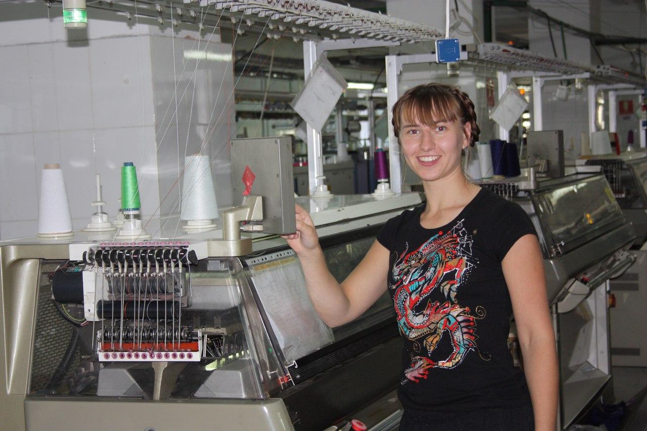 Екатерина на фабрике кашемировых изделий в Монголии