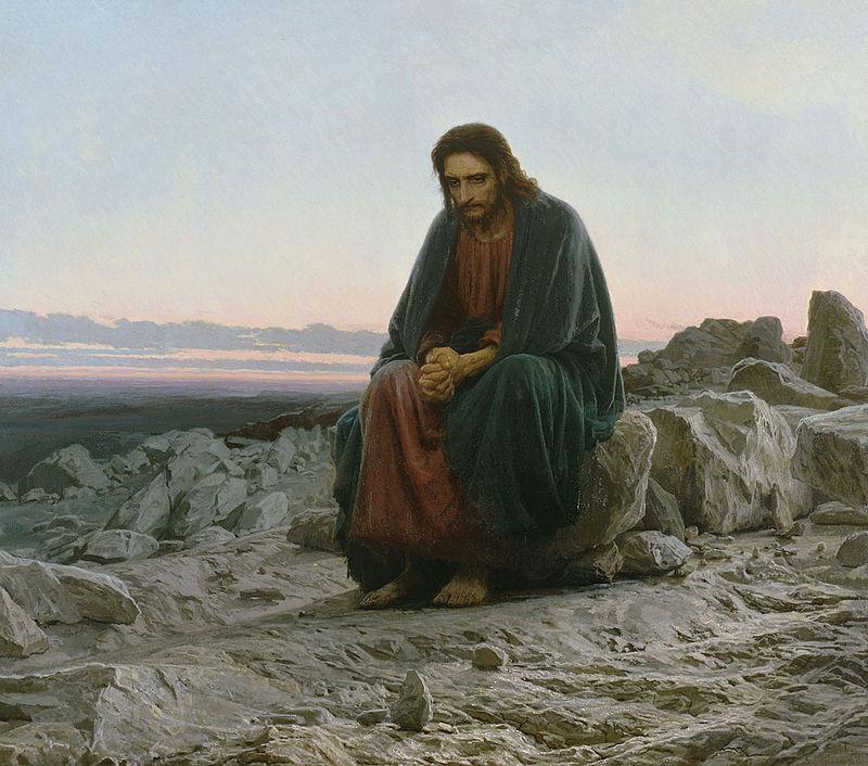 """Иван Крамской """"Христос в пустыне"""", 1872"""