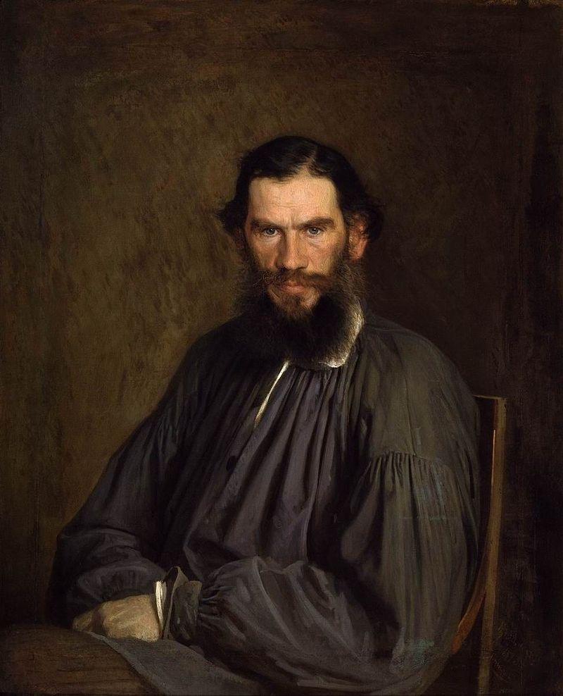 """Иван Крамскйо """"Портрет Льва Тольстого"""", 1873"""