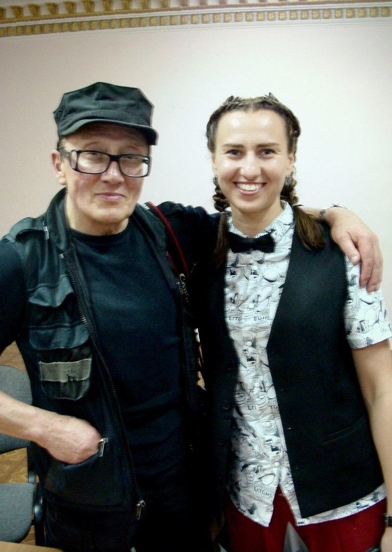 Екатерина с Михаилом Шемякиным