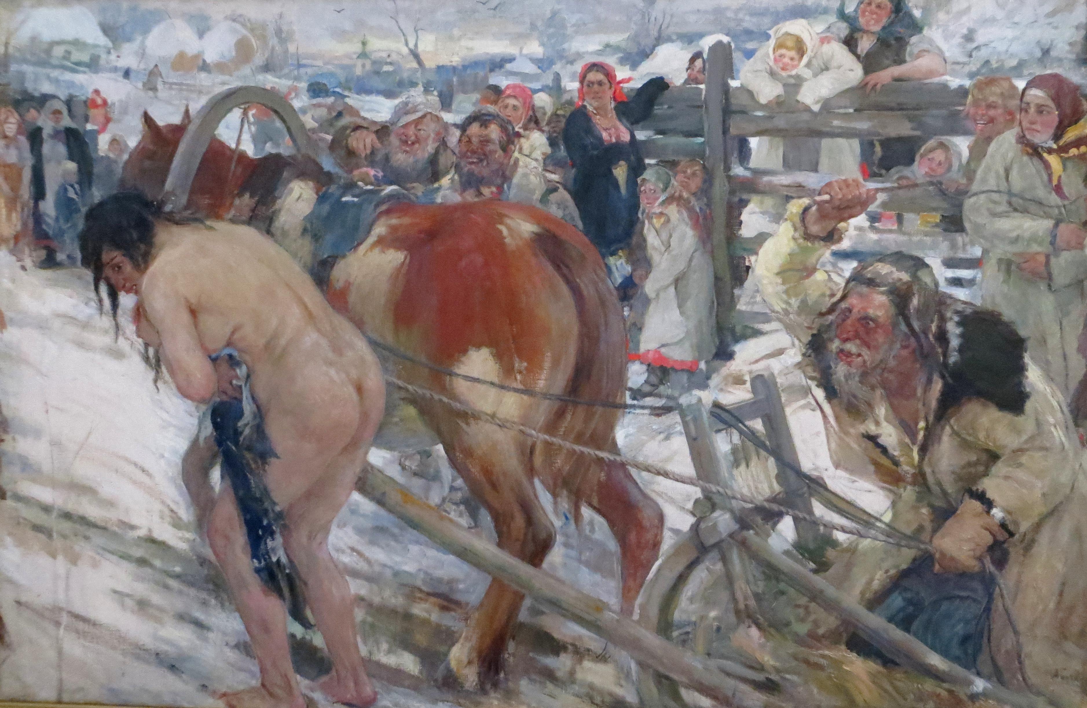 """Картину """"Вывод"""" Бучкури задумал в 1904 году, а завершил в 1936"""