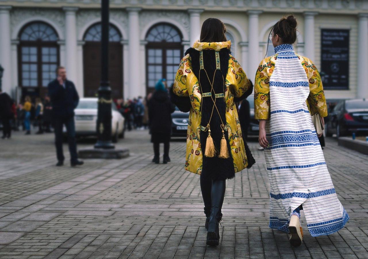 Изюминка нарядов Екатерины Ребежа - народные мотивы