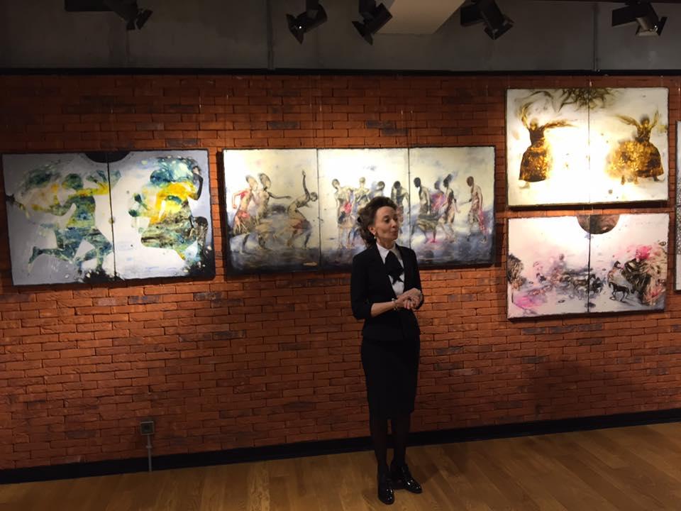 Ривка Беларева на открытии выставки в Камерном театре (фото из архива Камерного театра)