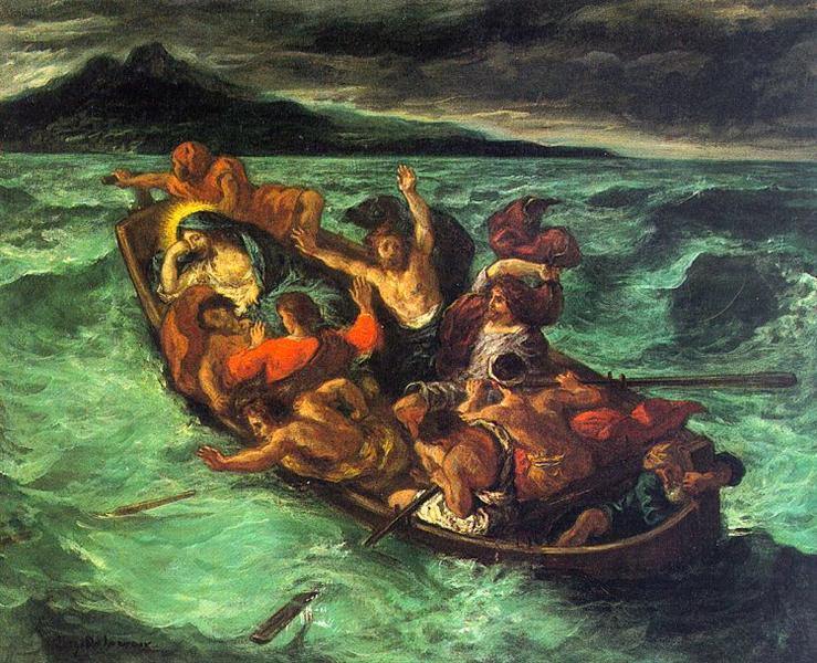 """Эжен Делакруа """"Христос на Генисарецком озере"""", 1854"""