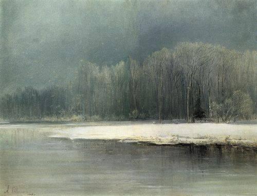 """Первым названием картины """"Зимний пейзаж. Иней"""" было """"Заледенело"""""""