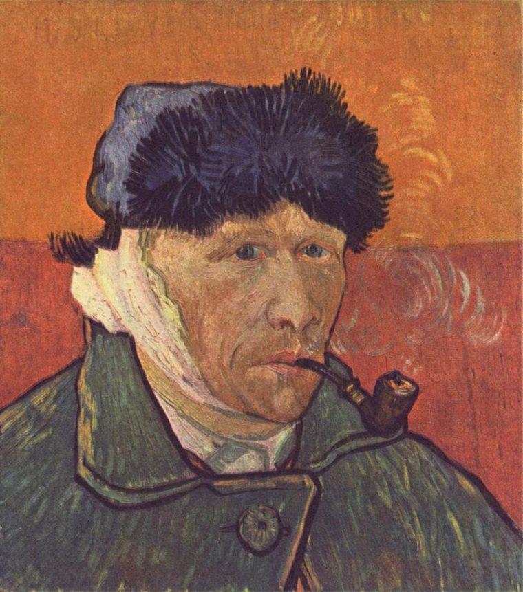 4 автопортрет с отрезанным ухом и трубкой