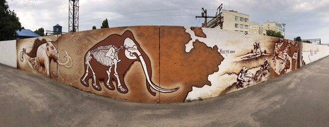 Граффити об истории Воронежа будет закончено к сентябрю