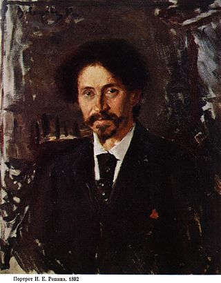 Портрет Ильи Репина кисти Валентина Серова, 1892 год