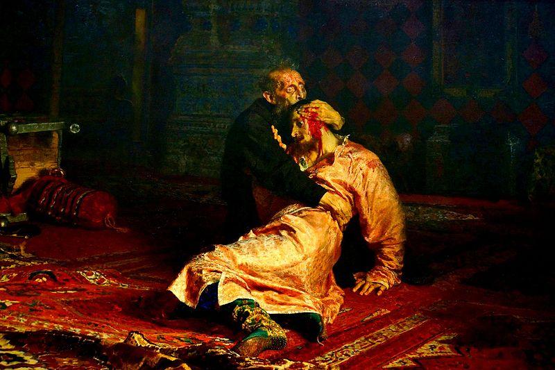 """Картину """"Иван Грозный и сын его Иван"""" 1885 года можно увидеть в Третьяковской галерее"""
