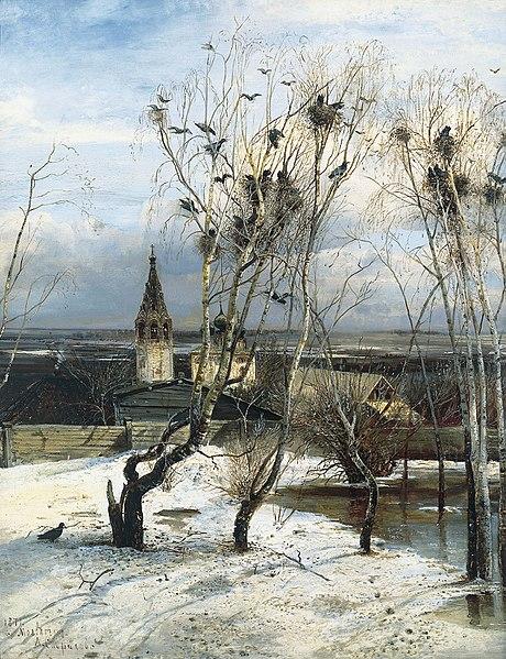 """""""Грачи прилетели"""", 1871"""