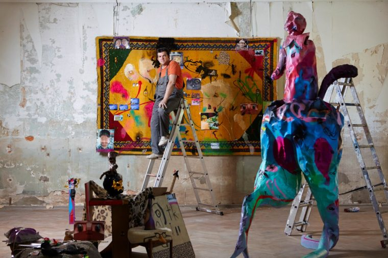 Иван Горшков на выставке в Берлине