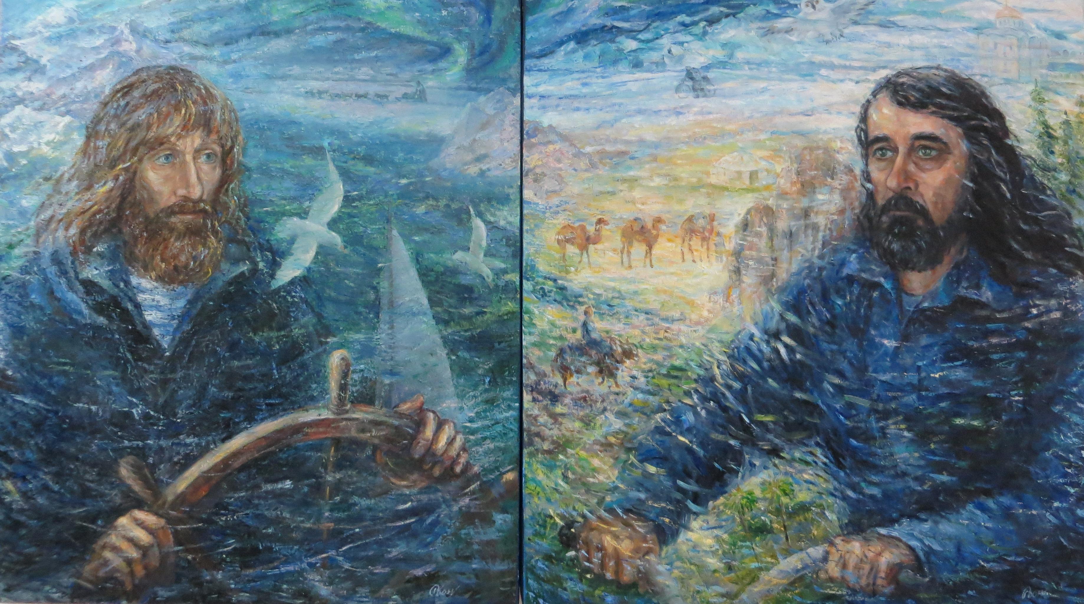 """Вера Конюхова """"Фёдор Конюхов"""" (слева и """"Павел Конюхов"""" (справа), 2014"""