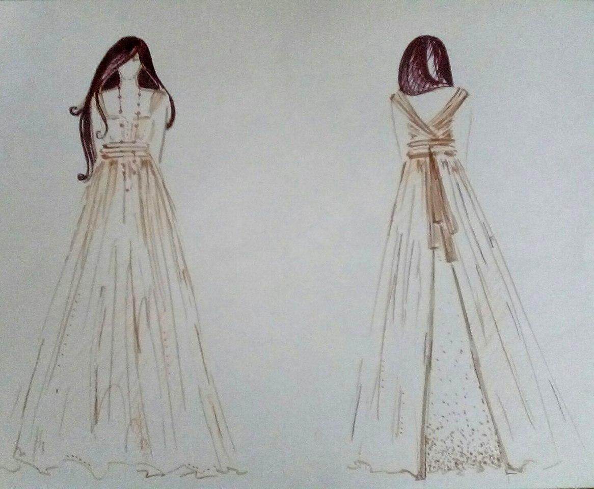 Эскиз костюма для Анны Карениной