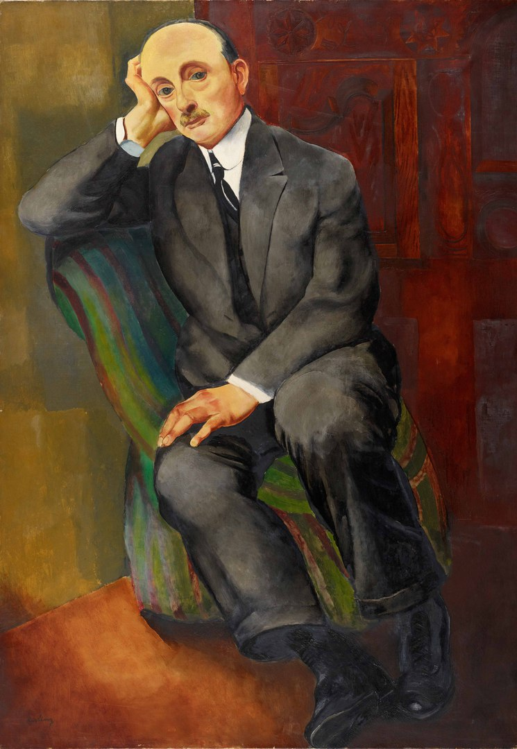 """Моисей Кислинг """"Портрет Йонаса Неттера"""", 1920"""