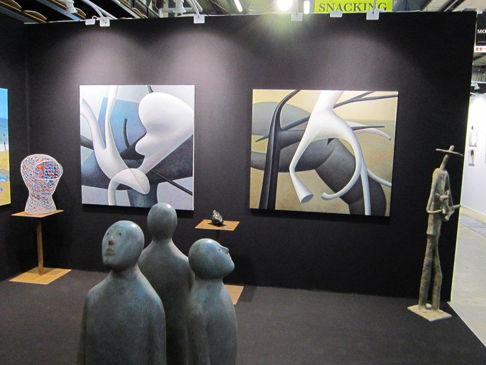 Стенд галереи Montesquieu на салоне Art Up в Руане