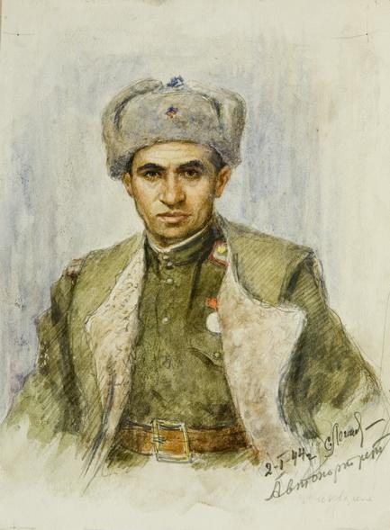 "Семен Легеня ""Автопортрет"", 1944"