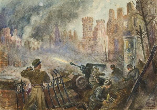 """Семен Легеня """"Из уличных боев в Бреслау"""", 1945"""