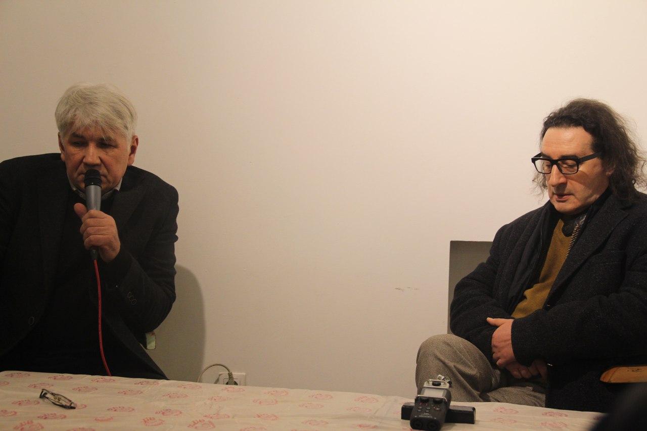 Директор галереи Х.Л.А.М. Алексей Горбунов и Борис Юхананов