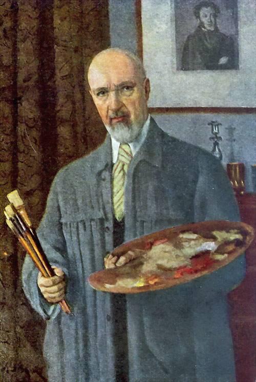 """Константин Юон """"Автопортрет"""", 1912"""