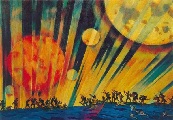 """Картина """"Новая планета"""" является одной из самых известных в творчестве художника"""