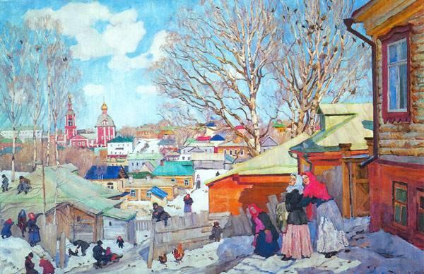 "Константин Юон ""Весенний солнечный день"", 1910"