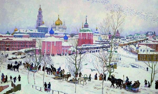 """""""Троицкая лавра зимой"""", 1910"""